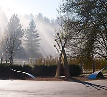 Wilson Botanical Park, Berwick, Australia, Winter Morning. by johnrf