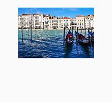 Your Romantic Ride Awaits - Traditional Venetian Gondolas on Grand Canal in Venice, Italy Unisex T-Shirt