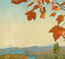 Adirondacks In Red Orange And Blue Sticker