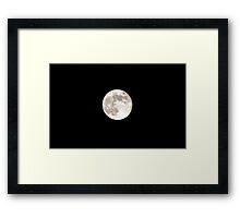 Texas Moon Framed Print