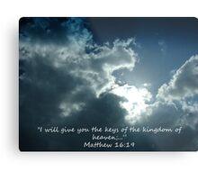 """""""Matthew 16:19""""  by Carter L. Shepard Metal Print"""