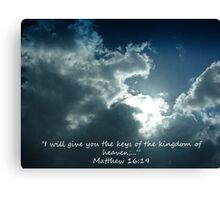 """Matthew 16:19""  by Carter L. Shepard Canvas Print"