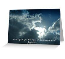 """Matthew 16:19""  by Carter L. Shepard Greeting Card"