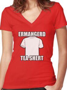 ERMAHGERD t-shirt Women's Fitted V-Neck T-Shirt