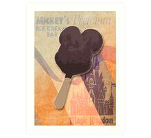 Mickey's Premium Ice Cream  Bar Art Print