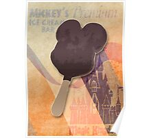 Mickey's Premium Ice Cream  Bar Poster