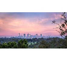 Pastel Dawn over Melbourne Photographic Print