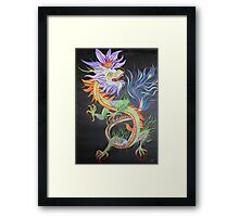 Bright and Vivid Chinese Fire Dragon Framed Print