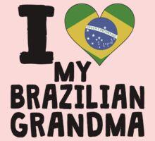 I Heart My Brazilian Grandma Kids Tee