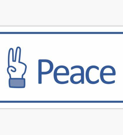 Peace button Sticker