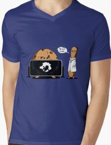 Cookies X-Ray  & Cookie Monster Mens V-Neck T-Shirt