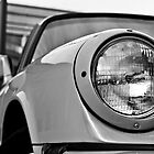 Vintage Porsche 930 Wink Black and White by Daniel  Oyvetsky