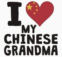 I Heart My Chinese Grandma Kids Tee