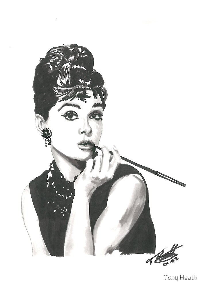 Audrey Hepburn - Breakfast at Tiffany's by Tony Heath