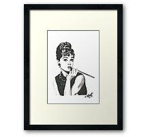 Audrey Hepburn - Breakfast at Tiffany's Framed Print