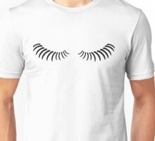 Eye lashes looking down. Unisex T-Shirt