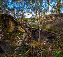 Old cement works on Narrabeen Lake by Doug Cliff