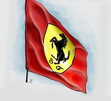 Ferrari Flag iPhone Case by Simon Kelshaw