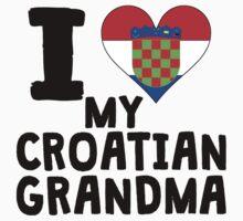 I Heart My Croatian Grandma Baby Tee