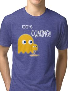 He's Coming.... Tri-blend T-Shirt