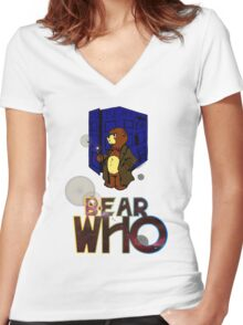 Mad Bear with a Box Women's Fitted V-Neck T-Shirt