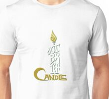 Shakespeare Shirts - Brief Candle (Colour + shading) Unisex T-Shirt