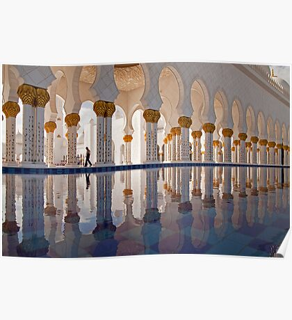 Sheikh Zayed Mosque in Abu Dhabi Poster