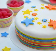 Colourful Birthday Cake Table Setting by HotHibiscus