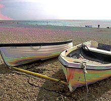 Boats at Rest PEARLISED VERSION by Shoshonan