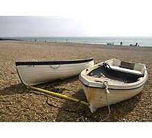 BEACHED BOATS Photographic Print