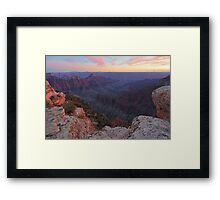 Bright Angel Sunset Framed Print