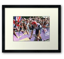 Bradley Wiggins - Gold in Mens Individual Time Trial - London 2012 Framed Print