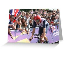Bradley Wiggins - Gold in Mens Individual Time Trial - London 2012 Greeting Card