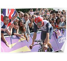 Bradley Wiggins - Gold in Mens Individual Time Trial - London 2012 Poster