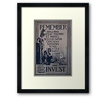 Rememberand invest Victory Liberty Loan Womans Liberty Loan Committee 002 Framed Print