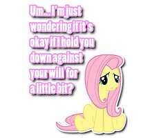 Fluttershy being shy Photographic Print