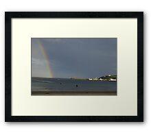 Rainbow Coast Framed Print