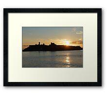 Castle Silhouette Framed Print