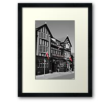 Black & White with Red Framed Print