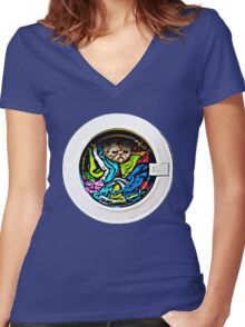 """OMG... I said """"WATCH"""" the Kitten! Women's Fitted V-Neck T-Shirt"""