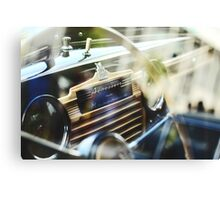 Vintage soviet car dash Canvas Print