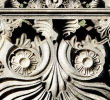 Ornate Italian Scroll face heart Sticker