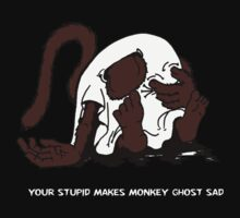 Monkey Ghost Despairs  by Sozdanee