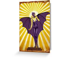 Golden Vintage Bat Elixir Greeting Card
