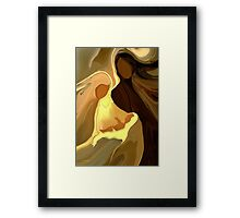 The Saviour is born'... Framed Print