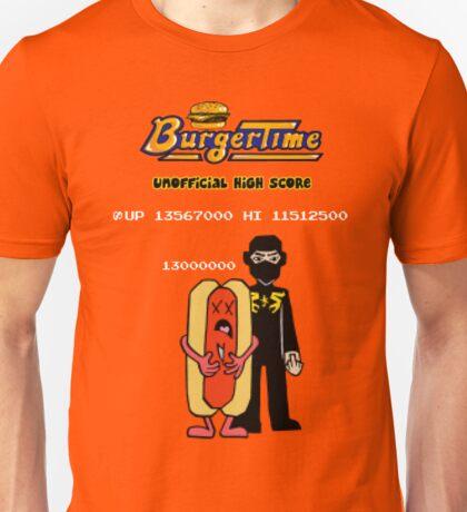 Ninja Brian's Burger Time High Score Unisex T-Shirt