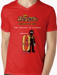 Ninja Brian's Burger Time High Score Mens V-Neck T-Shirt