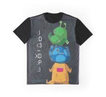 Cute Monsters Graphic T-Shirt