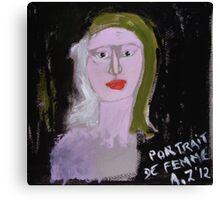 Portrait de femme Canvas Print