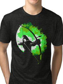 He walks at night... (Green) Tri-blend T-Shirt